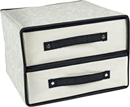 DII Breathable Non-Woven Soft Storage Closet Organizer Bin with 2 Drawers for Accessories, Craft Supplies, Jewelry & More ...