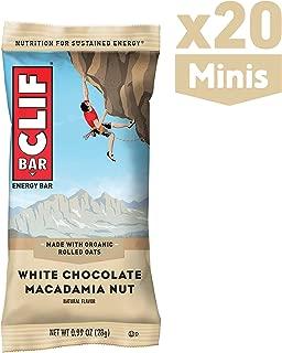 CLIF BAR - Mini Energy Bars - White Chocolate Macadamia Nut Flavor - (0.99 Ounce Snack Bars, 20 Count)