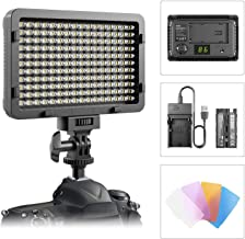 LED Video Light, ESDDI 177 LED Ultra Bright Dimmable Camera Panel Light with Battery and USB Cable for Canon, Nikon, Pentax, Panasonic, Sony, Samsung, Olympus and All DSLR Cameras