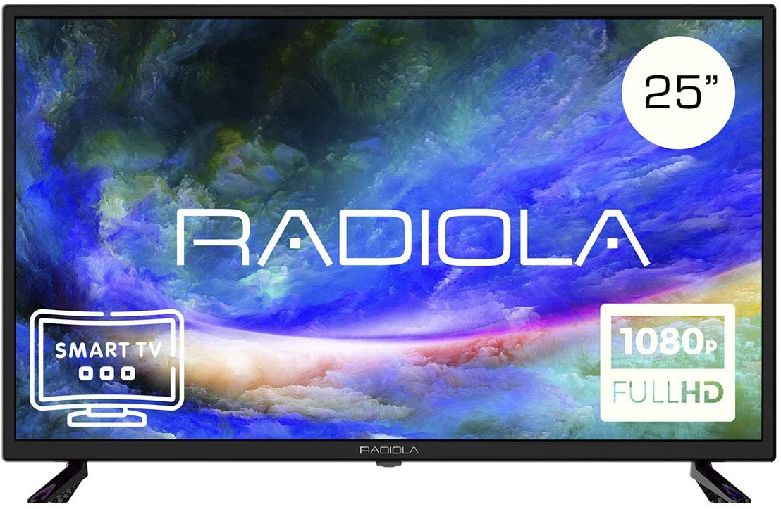 Televisor Led 25 Pulgadas Full HD Smart TV. Radiola LD25100KA, Resolución 1920 x 1080P, HDMI, VGA, WiFi, TDT2, USB Multimedia, Color Negro