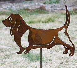 Basset Hound yard stake - Dog metal garden stake - Hound pet memorial - Hound dog art - Rustic yard basset hound marker - Dog lover decor