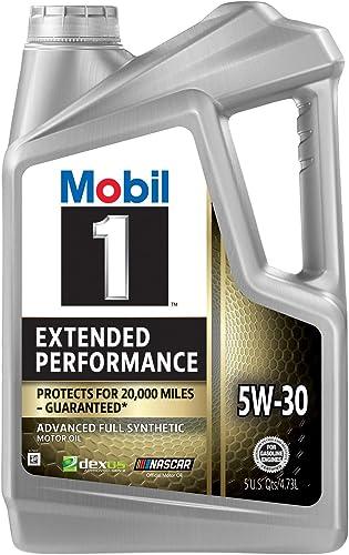 Mobil 1 Extended Performance Full Synthetic Motor Oil 5W-30, 5 Quart