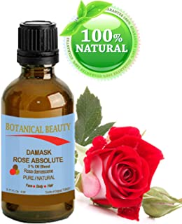 Botanical Beauty Damask Rose Absolute Pure / Natural 3% Oil Blend. 0.17Fl oz - 5ml. One Of The Best Anti Aging Oils For Skin Toning, Balancing, And Hydration.