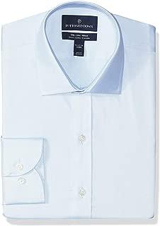Amazon Brand - BUTTONED DOWN Men's Slim Fit Stretch Twill Dress Shirt, Supima Cotton Non-Iron, Spread-Collar