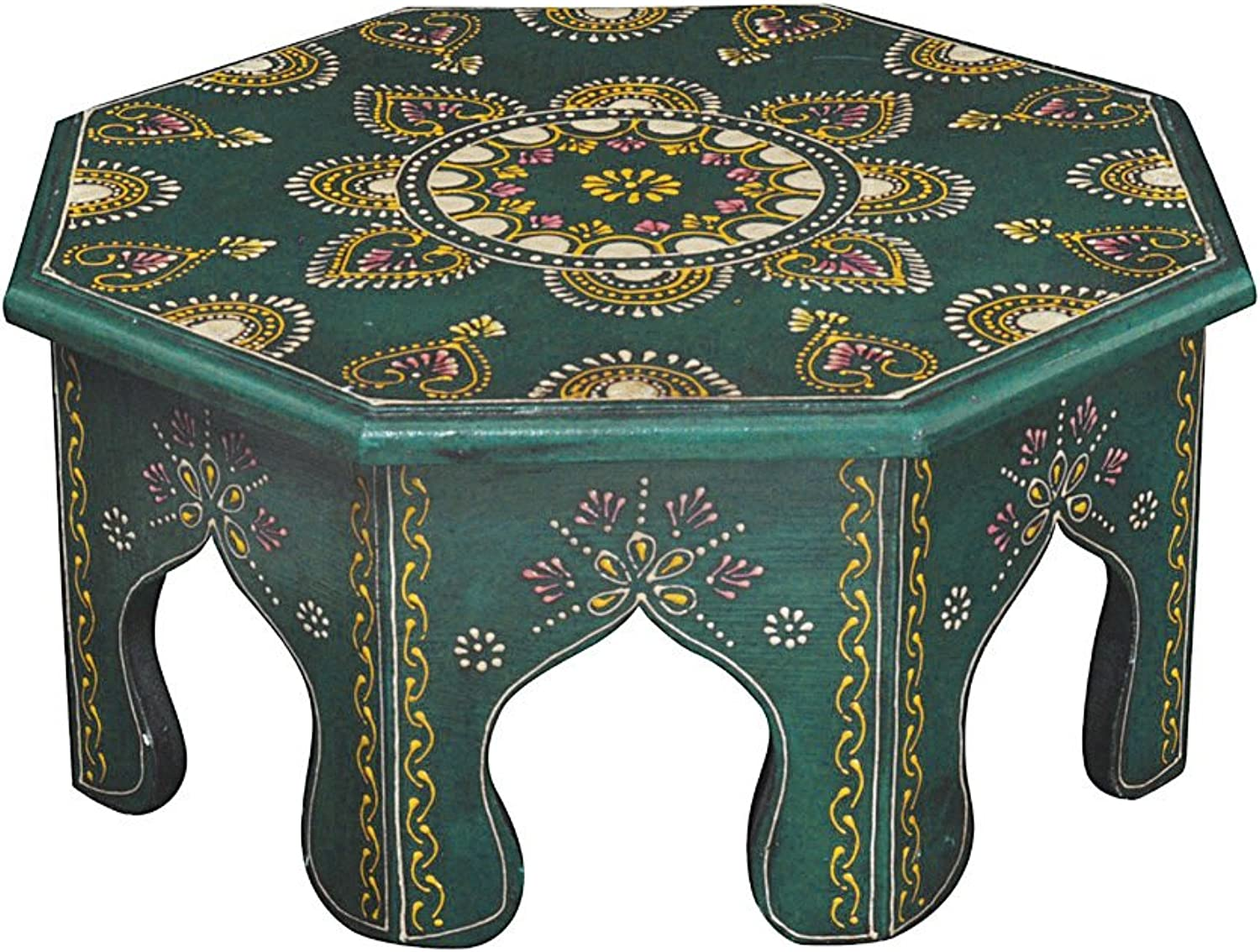 Pooja Chowki Decorative Small Table Stool 13 X 13 X 6 Inches