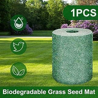 Biodegradable Grass Seed mat can Help Plant Growth and Germination mat Planting mat, Heat Insulation, moisturizing, Shade Garden Lawn Erosion Control Blanket Grass Seed mat (1PCS)