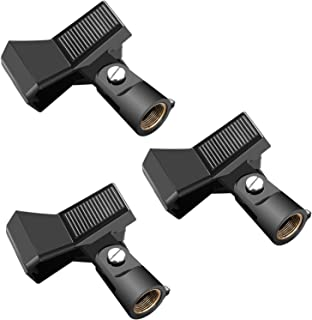 Neewer Neewer 3 Packs Microphone Clip Clamp Holder for Mic Stand with 5/8 inch Screw and Microphone Within 22MM-35MM Diame...
