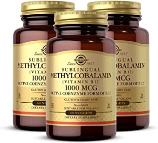 Solgar Methylcobalamin 1000 mcg, 60 Nuggets - Pack of 3 - Supports Energy Metabolism - Body Ready, Active Form of Vitamin ...