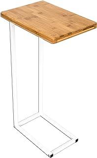 comprar comparacion bonVIVO Mesa de Centro Donna, Mesa Auxiliar en Moderno de Acero Inoxidable Madera Natural Combinación con Estructura de Ac...