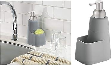 InterDesign Lineo Silicone Soap Dispenser Pump and Sponge Caddy, 1, Piece