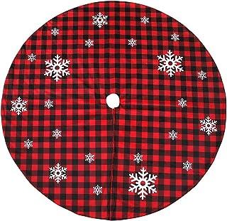 Seasonal Décor عيد الميلاد 3.9ft الخيش شجرة تنورة بيضاء ندفة الثلج المطبوعة عيد الميلاد السنة الجديدة عطلة ديكورات داخلي ف...
