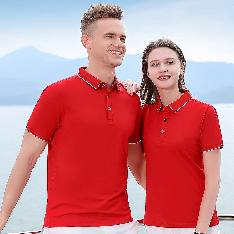 Jilei High-end Lapel T-Shirt Female Short-Sleeved Summer Overalls Custom top Print Logo led Equipment Paul Polo Shirt(M,Tiesel)