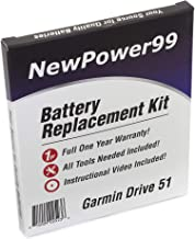 NewPower99 Battery Replacement Kit for Garmin Drive 51 with Installation Video, Tools, and Extended Life Battery.