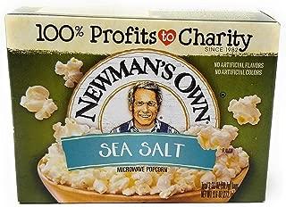 Newman's Own Sea Salt Microwave Popcorn - 9.6 oz - 3 pk