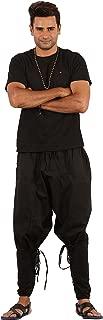 Mens Yoga Lightweight Cotton Dance Handmade Harem Pants - Samurai Style