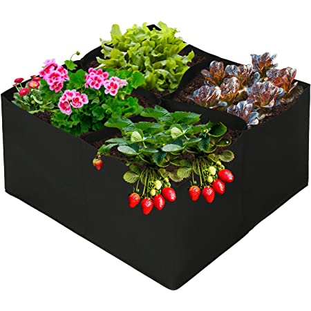 globalqi Rectangle Grow Bag Garden Planting Bags for Vegetables Tomato Growing Square Planter for Outdoor Indoor Garden Balconies Greenhouses Use Blue 23.6211.8111.81inch