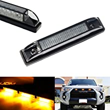 iJDMTOY 3pc Smoked Lens Amber LED Center Grille Marker Lights For 2014-up Toyota 4Runner or 2012-up Toyota Tacoma TRD Pro w/Wiring and Hardware