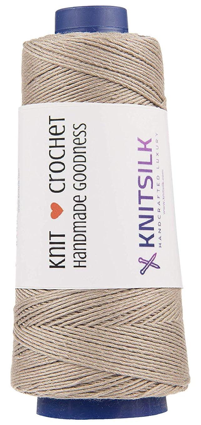 KnitSilk Pure Silk Viscose Blend Yarn in Cones - Knit, Crochet, Weave, Tatting, Jewelry, Crafts (8 Ply - 160 Yards, Pack of 1) (Oak)