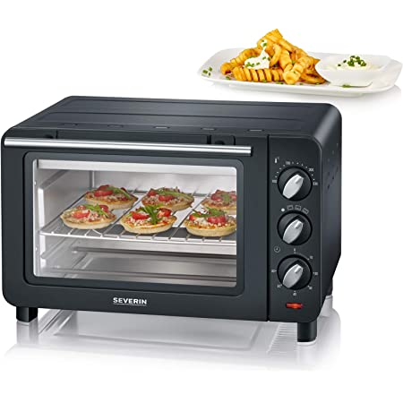SEVERIN Mini Four 14L, Inclus : Grille et Lèche frites, Minuteur 60 min, 1 200 W, TO 2064