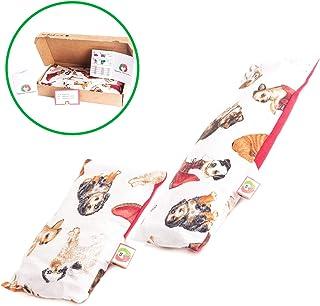 comprar comparacion Set Bebé: Cojín Anticólicos (15x10cm) + Saco Térmico Semillas Calienta Cunas (25x10cm) - Almohada Microondas para Cólicos ...