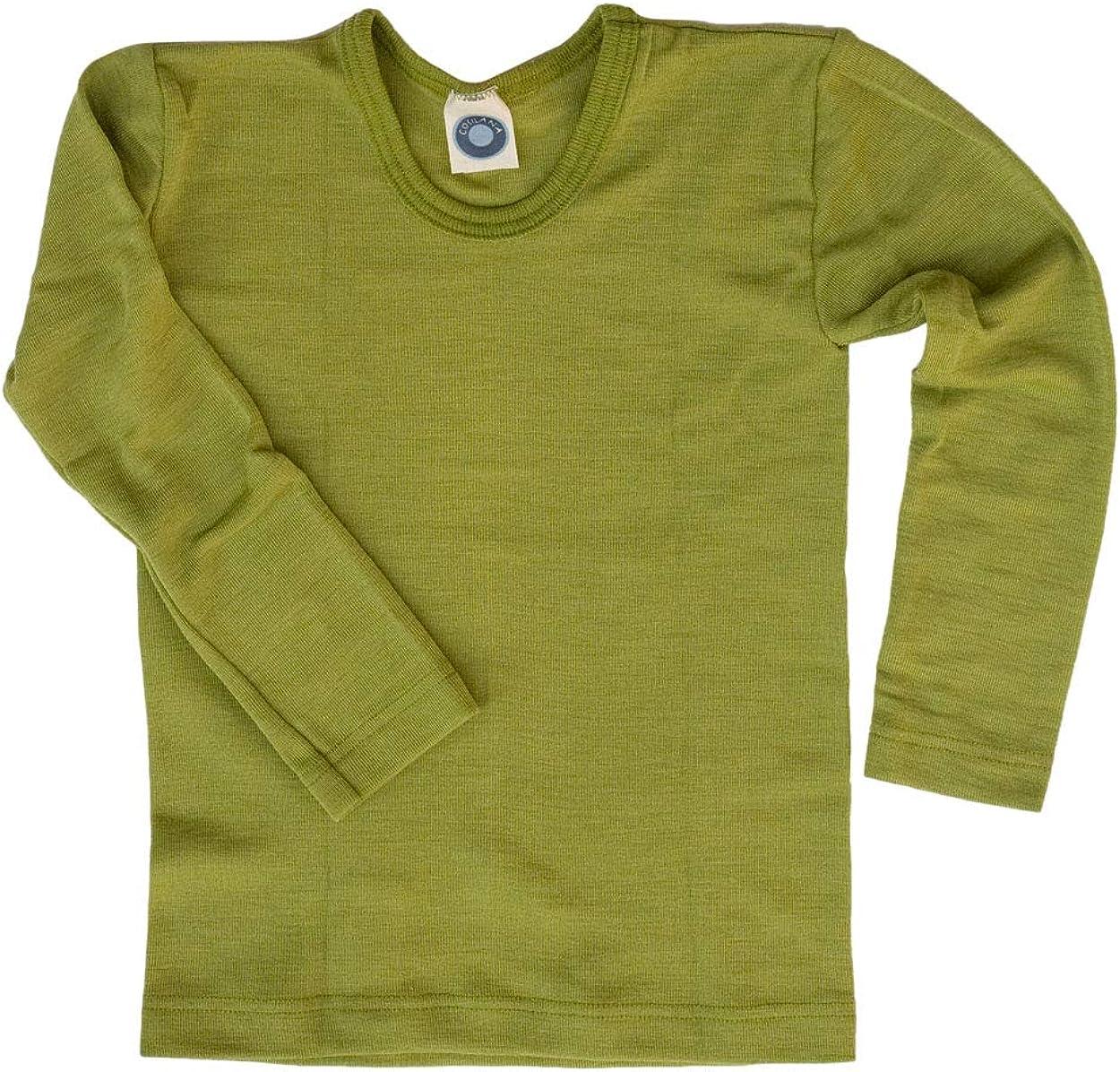 Cosilana Maglia a maniche lunghe per bambini in lana vergine biologica e seta