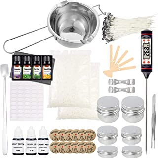 EWONICE Complete DIY Candle Making Kit Supplies Including Melting Pot, Wax, Wicks, Tins, Candle Wicks Holder etc.