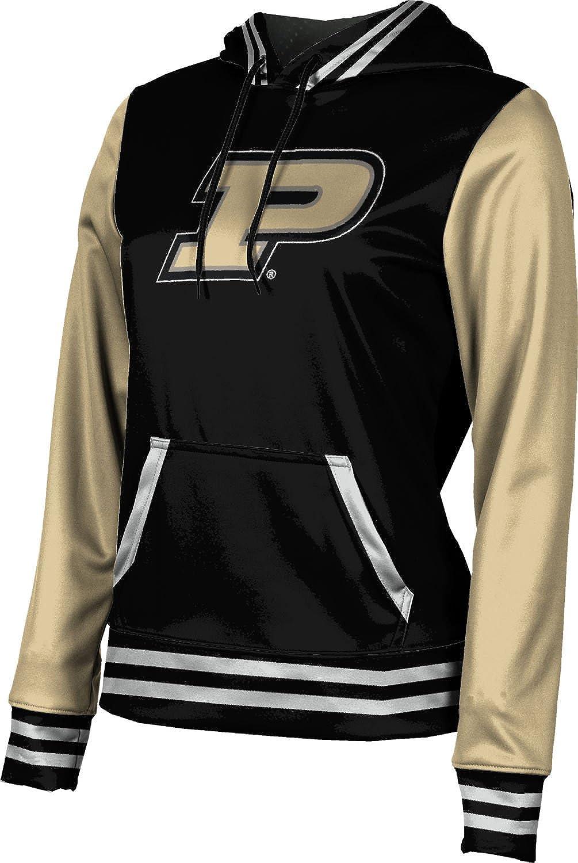ProSphere Purdue University Girls' Pullover Hoodie, School Spirit Sweatshirt (Letterman) F9BC2 Black and Light Gray
