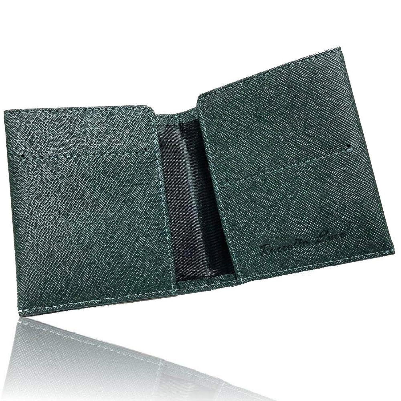 【Raccolta Luce】 マネークリップ 牛本革 レザー 軽量薄型0.8cm カード4枚収納可能
