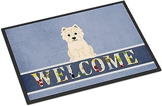 Caroline's Treasures BB5623MAT Westie Welcome Indoor or Outdoor Mat 18x27, 18H X 27W, Multicolor
