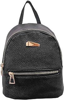 Colorido Fashion Faux Leather Mini Backpack Girls Travel Handbag School Rucksack Bag size Mini (Black)