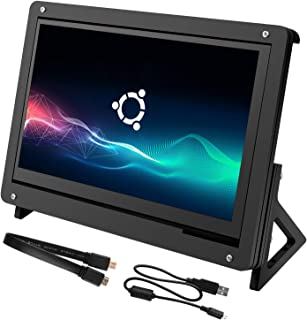 kuman for Raspberry Pi 7 Inch Capacitive Touch Screen, LCD HDMI Input 800x480 Display with Acrylic Case Holder SC7BC