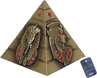 ZOVIE Metal Egyptian Pyramid Pharaoh Avatar Statue Home Decor