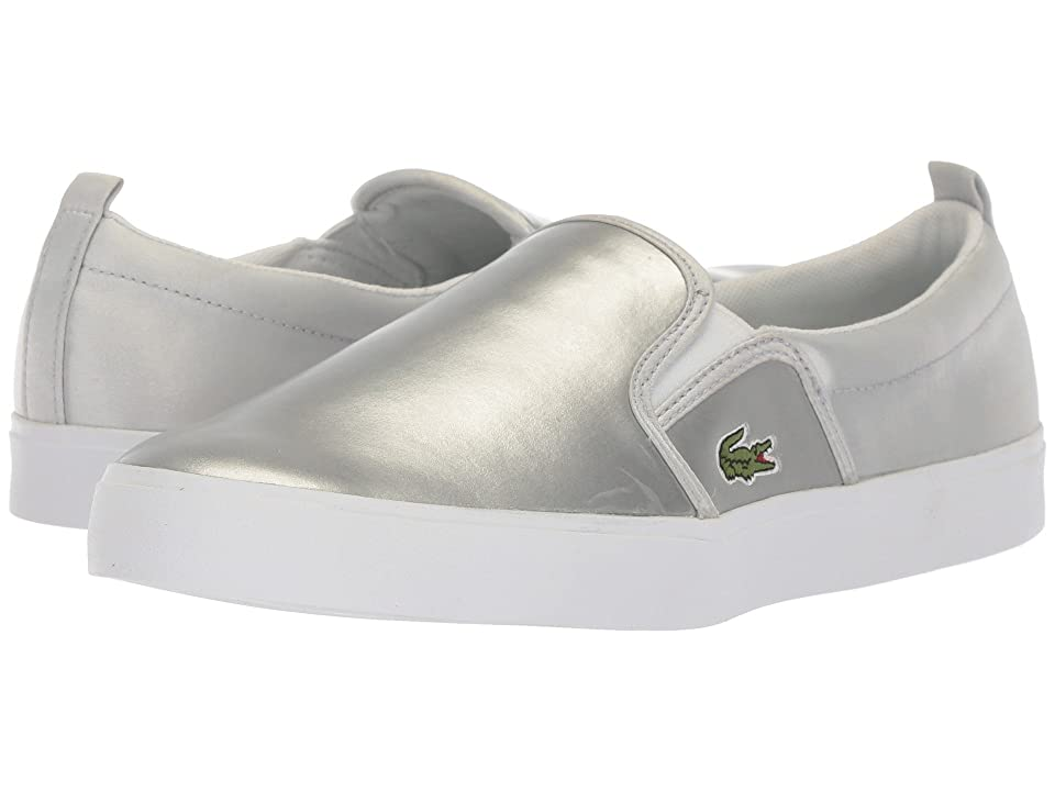 Lacoste Kids Gazon (Little Kid) (Silver/White) Girl