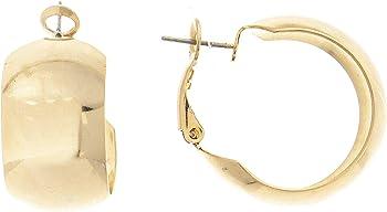 Rivka Friedman 18K Gold Clad Polished Wide Huggie Hoop