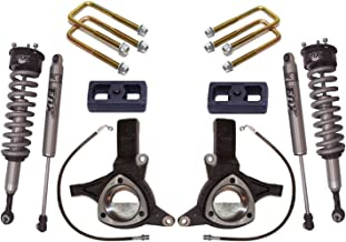 MaxTrac K881364F Suspension Lift Kit w/Shocks 6 in. Lift Incl. Front Spindles With Brake Lines/Front Fox 2.0 Coil Overs/Rear Blocks/U-Bolts/Rear Fox Performance Shocks Suspension Lift Kit w/Shocks