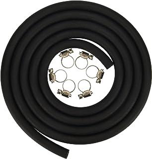 CocoMocart 5/16 Inch ID x 6.5 Feet/2m Length NBR/PVC SAE30R6 Polyester Reinforced Fuel Line Tubing Hose