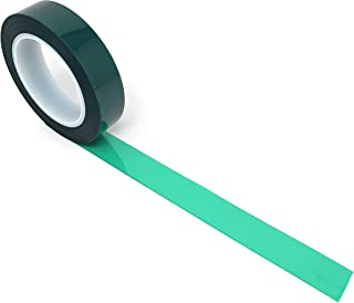 APT, (1'' X 72 Yds, Green), 2 Mil Polyester Tape with Silicone Adhesive, PET, Mylar Tape, high Temperature Tape, 3.5 mil Thickness, Powder Coating, E-Coating, Anodizing, high Temp Masking.(1 inch)