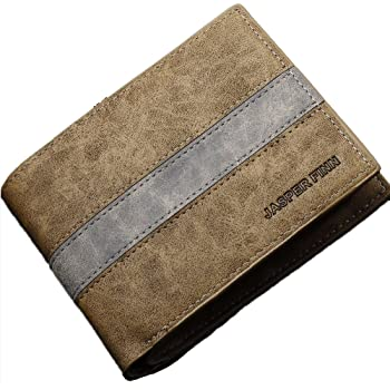 BRAND NEW Mens QUALITY Bifold Wallet with Suede Look  VERY DURABLE!