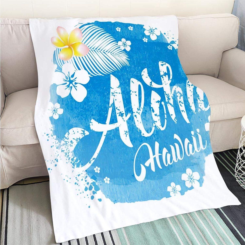 BEICICI Super Soft Flannel Thicken Blanket Aloha Hawaii Lettering Living Room Bedroom Warm Blanket