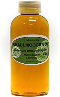 4 OZ CHAULMOOGRA Oil by DR.Adorable 100% Pure Organic Cold Pressed