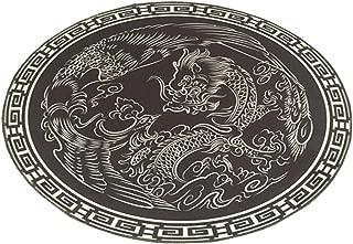 MSFGJZM Round Carpet Creative Bedroom Carpet Durable Area Rugs Circular Cartoon (2' Diameter, Dragon and Phoenix)