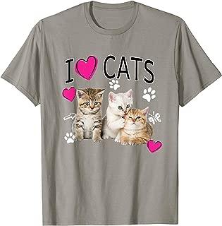 I Love Cats Shirt | Cat lover - I love Kittens T-shirt Gift T-Shirt