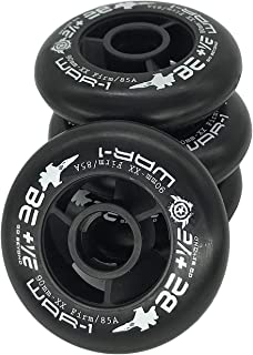 JieKeHaiDao 85A SHR PU Inline Speed Skates Replacement Wheels Without Bearings (Pack of 4) Size 110mm and 100mm and 90mm for Speed Skate Scooter