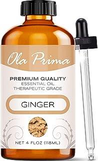 Ola Prima 4oz - Premium Quality Ginger Essential Oil (4 Ounce Bottle) Therapeutic Grade Ginger Oil