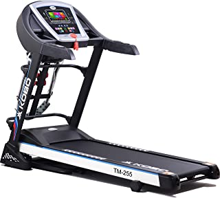"""Kobo Fitness 3 H.P (TM-255) 7"""" TFT Touch Screen Motorized Manual Incline Treadmill with Massager, Free Installation Assist..."""