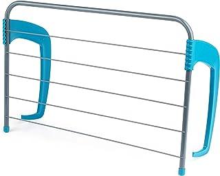 Beldray Séchoir Amovible pour radiateur 6 Barres LA027535TQEU 5 pour essuie-Mains ou vêtements, jusqu'à 5kg, Alliage, Tur...
