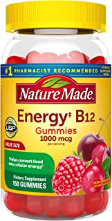 Nature Made Energy B12 1000 mcg Gummies, 150 Count Value Size