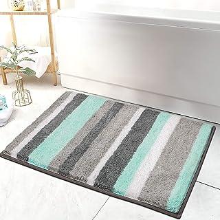 "HEBE Non-Slip Bathroom Rugs Mat Soft Microfiber Bath Mats for Bathroom Absorbent Bath Floor Rug Machine Washable,20""x32"""