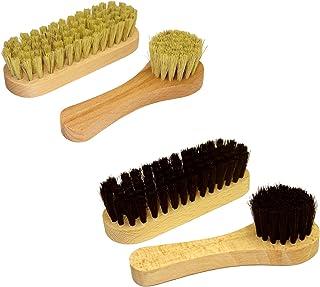Bois en Caoutchouc Blanc Cr/êpe Chaussures Brosse Base Brosse pour Les Bottes en Daim Sacs Scrubber Nettoyant