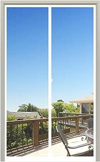MAGZO Magnet Screen Door 36 x 96, Magnetic Mesh with Heavy Duty Full Frame Hook&Loop Fits Door Size up to 36